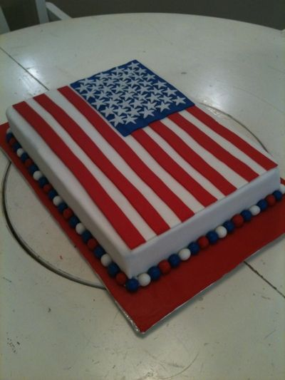 I Think This Is My Next Project  ) American Flag Cake By Cowcakes