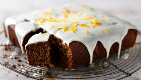 Gingerbread Cake With Orange Icing Recipe