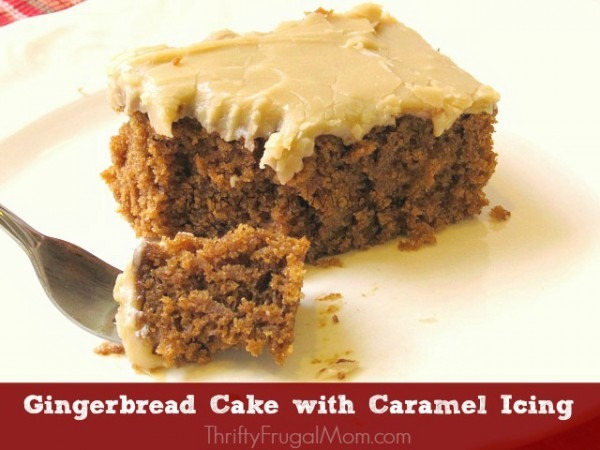 Super Moist Gingerbread Cake With Caramel Icing