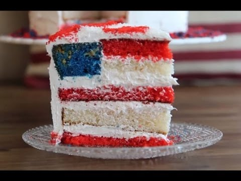 How To Make American Flag Cake