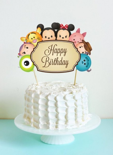 Tsum Tsum Cake Topper  Tsum Tsum Birthday Party  Party