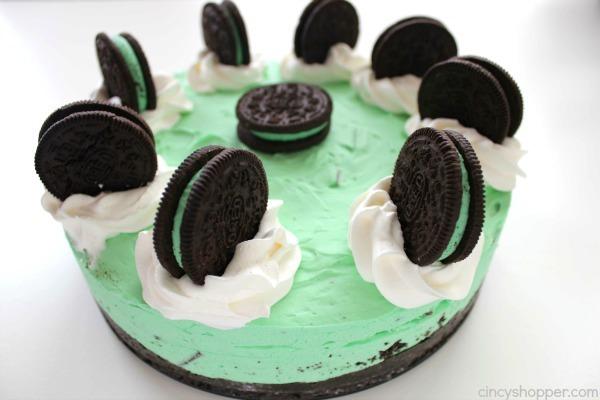 No Bake Mint Oreo Cheesecake