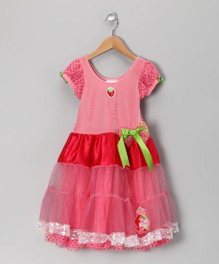 Pink & Red Strawberry Shortcake Dress