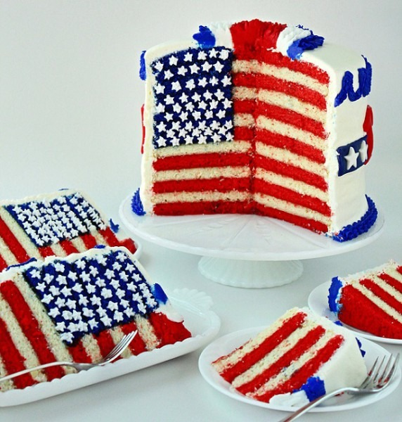 Fourth Of July Flag Cake And Tutorial – Sugarywinzy