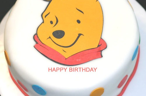 Winnie The Pooh Happy Birthday Cake With Name