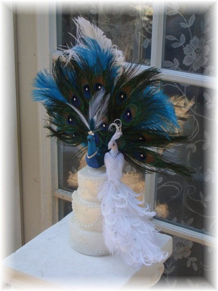 Exquisite Peacock Cake Topper In 3 Variations In 2019