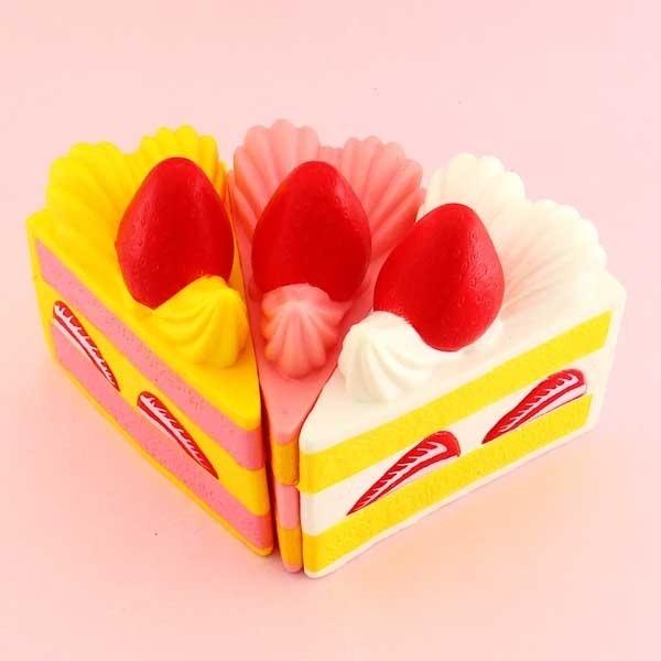 Strawberry Cream Cake Slice Squishy