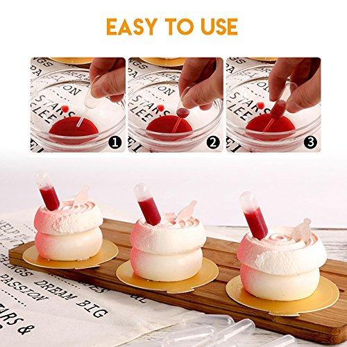 Cupcake Pipettes, Teenitor 200pcs 4ml Mini Plastic Pipettes For