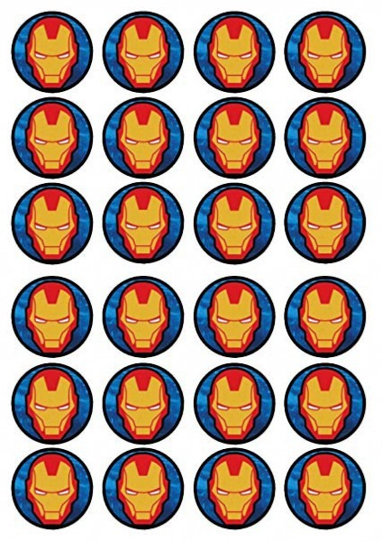 Amazon Com  24 Iron Man  2 Edible Premium Thickness Sweetened
