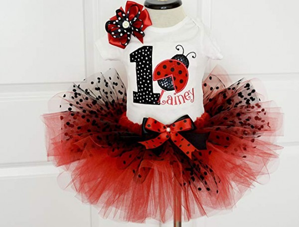 Amazon Com  First Birthday Outfit Girl,ladybug Birthday Outfit Red