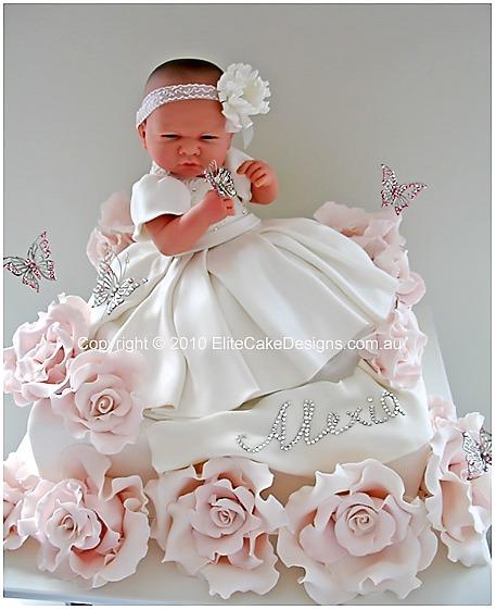 Baby Girl Christening Cake, Christening Cakes Sydney, Christening