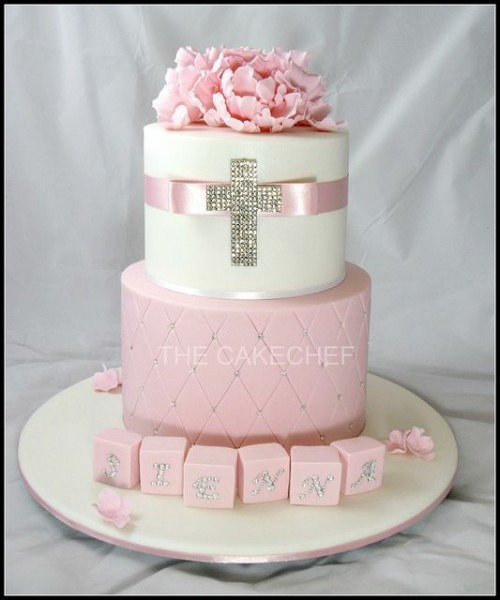Baptism Cakes For Girls