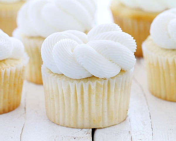 Elegant White Cupcakes