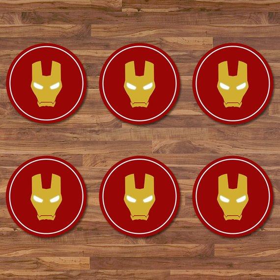 Iron Man Cupcake Toppers