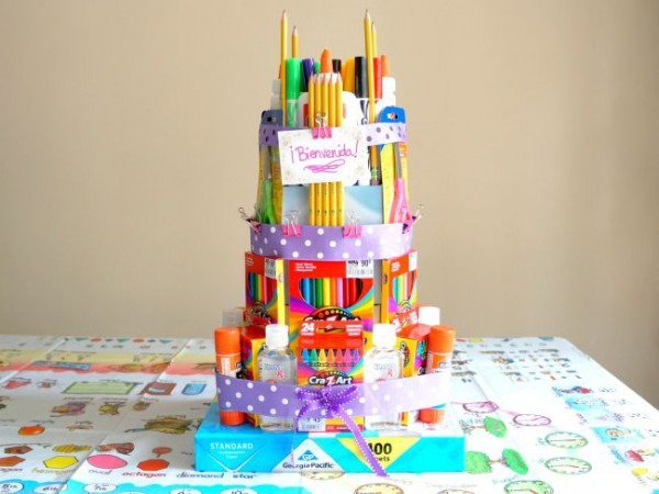 How To Make A School Supplies Cake The Easy Way