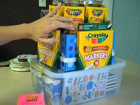 Trendy Tuesday Aug  7, 2012  School Supply  Cake