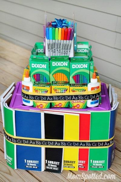 School Supply Cake Tutorial For Teacher Gift