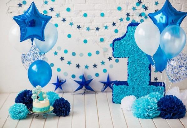 Mehofoto Boy 1st Birthday Balloons Flowers Smash Cake Photography