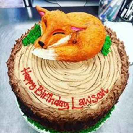 Realistic Fox Birthday Cake