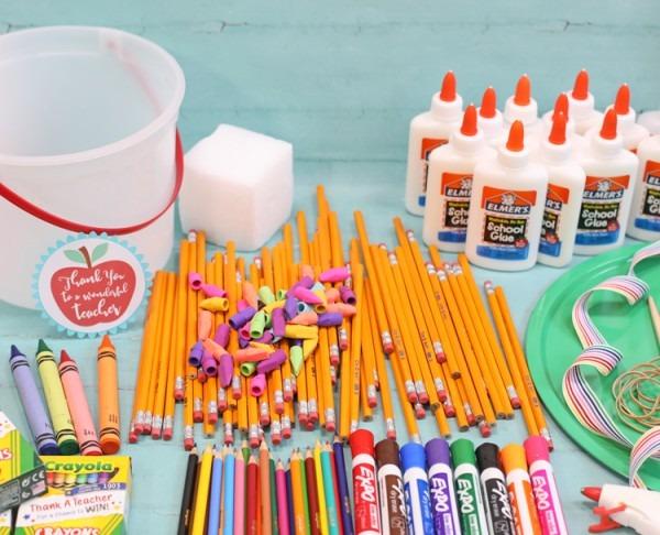 School Supply Cake Tutorial
