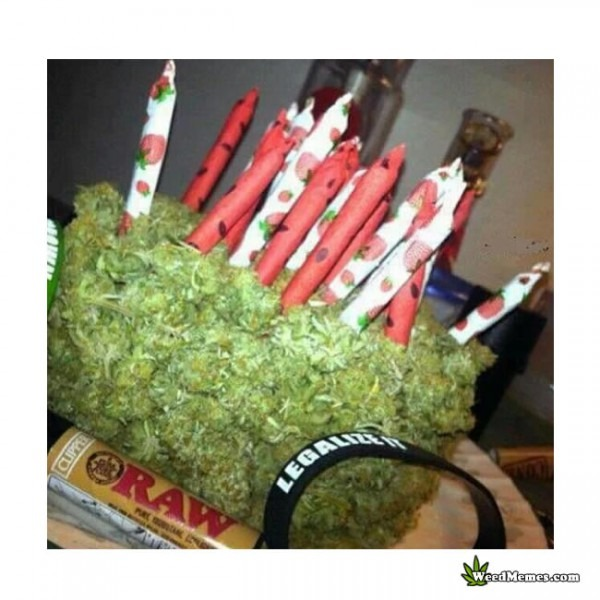 Weed Birthday Cake Made Of Real Buds And Joints