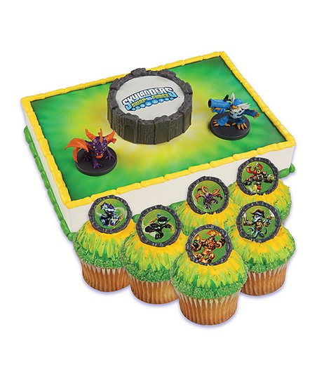 Bakery Crafts Skylanders Cake Topper & 24 Cupcake Rings