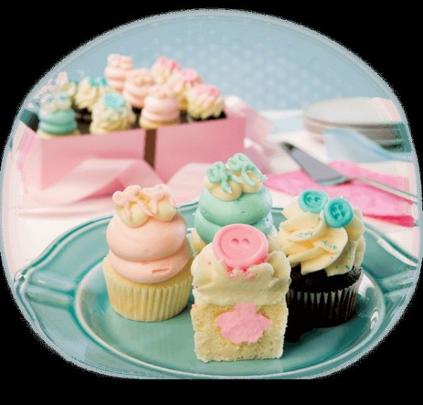 Gigi's Houston Gender Reveal Cupcakes! Perfect For Your Baby