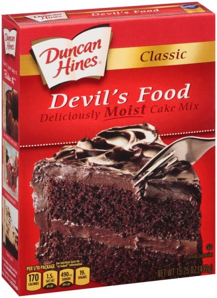 Duncan Hines® Classic Devil's Food Cake Mix 15 25 Oz  Box Reviews 2019