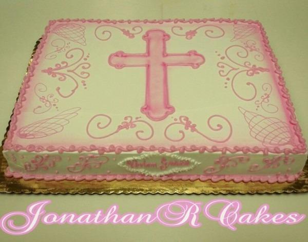 Christening Sheet Cake For Girl