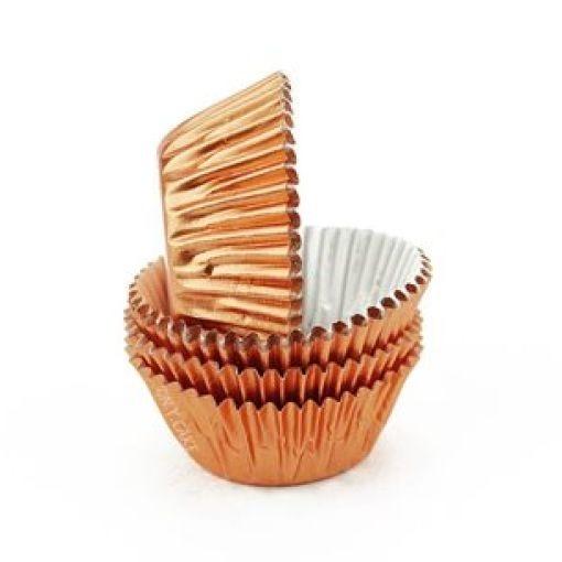Rose Gold (copper) Metallic Mini Cupcake Liners Baking Cups
