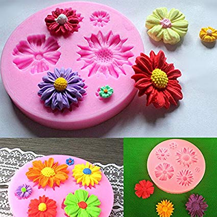 Amazon Com  Silicone Flower Mold Cake Decorating Chocolate Sugar