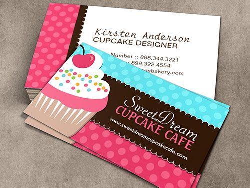 Cute Cupcake Baker Business Card Template