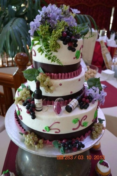 Wine Themed Cake