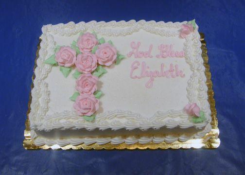 Baptism Full Sheet Cakes For Boys