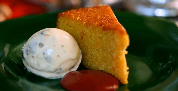 Spiced Orange Cake With Plum Sauce On Tom Kerridge Cooks Christmas