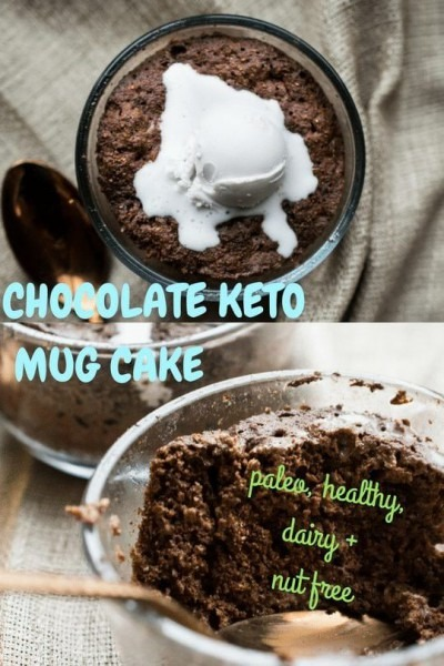 This Nut And Dairy Free Mug Cake Serves Two! It's Moist And Rich