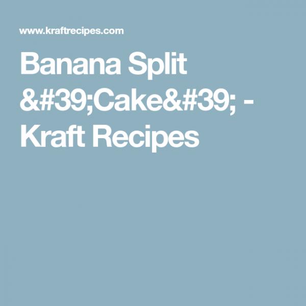 Banana Split 'cake'