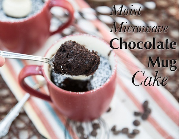 Moist Microwave Chocolate Mug Cakes