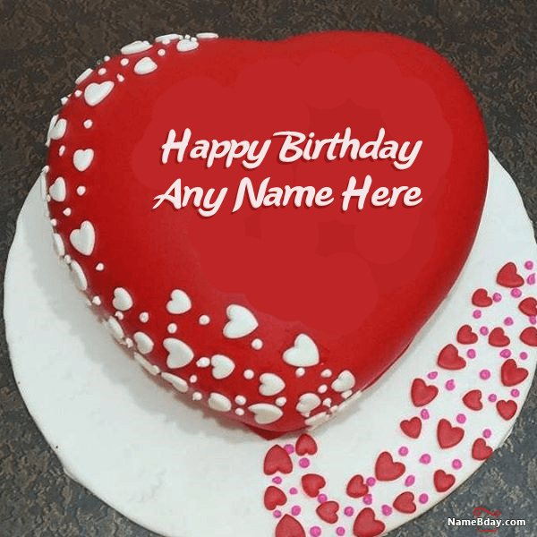 Too Romantic Birthday Cake For Wife With Name And Photo