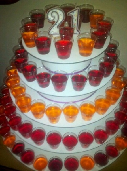 I Came Up With This Idea For A Jello Shot  Birthday Cake  For My