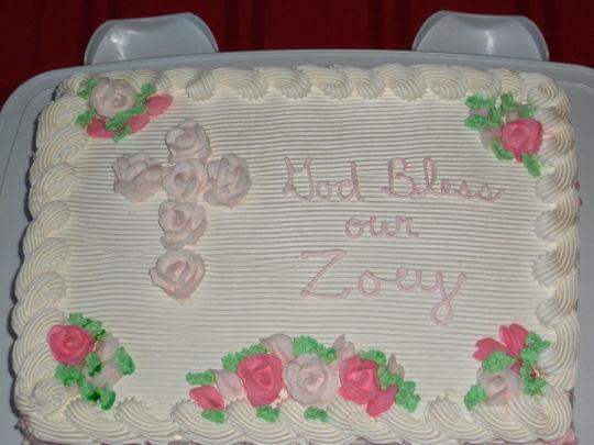Baptism Sheet Cake