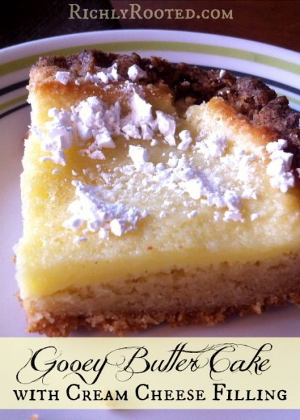 Gooey Butter Cake With Cream Cheese Filling – Richly Rooted