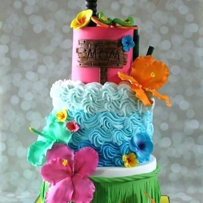 Hawaiian Theme Cake Party Ideas Decorating Photos Themed Birthday