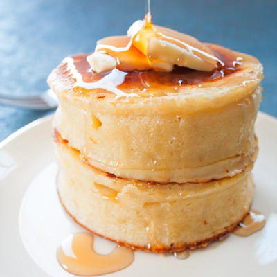 Thick Fluffy Japanese Style Pancakes