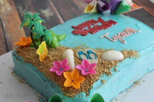 Triple Pineapple Luau Cake {contributor Julie}