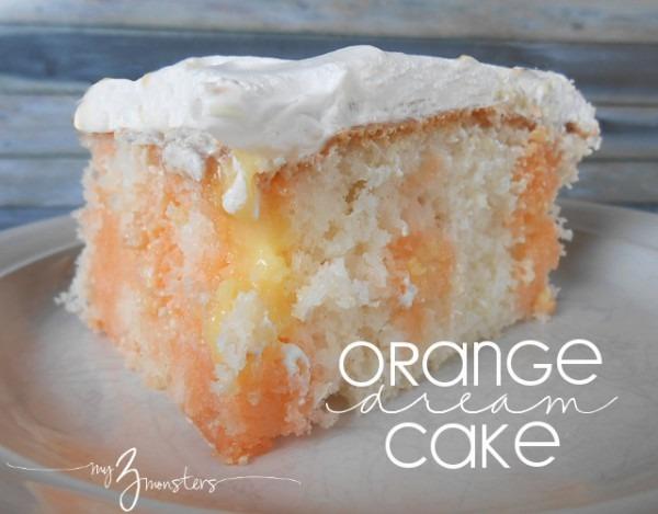 My 3 Monsters  Orange Dream Cake