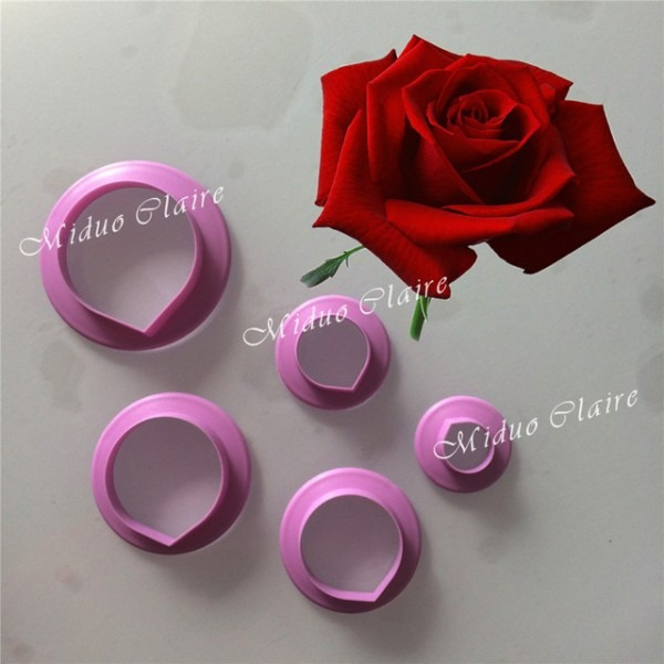 Rose Petal Cutter Flower Cutter Cake Decorating Moulds Fondant