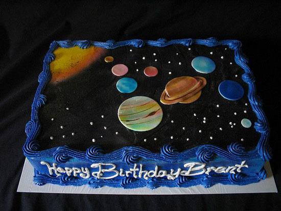 Space Birthday Cake