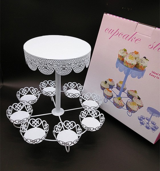 Vintage Romantic Lace Wedding Cupcake Stand Cake Tray Decoration