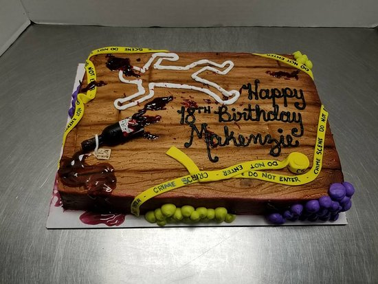 Wine Themed Murder Mystery Cake